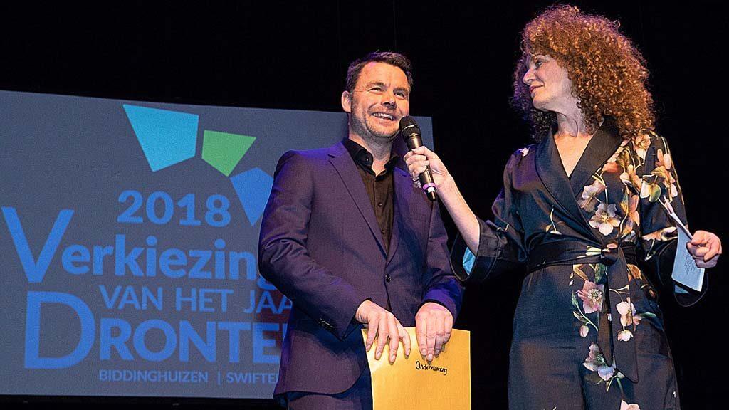 Verkiezing ondernemer van het jaar OVDD nieuwjaarsfeest Dronten